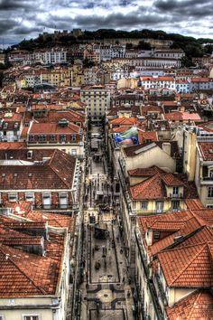 View from Santa Justa Tower - Lisbon, Portugal
