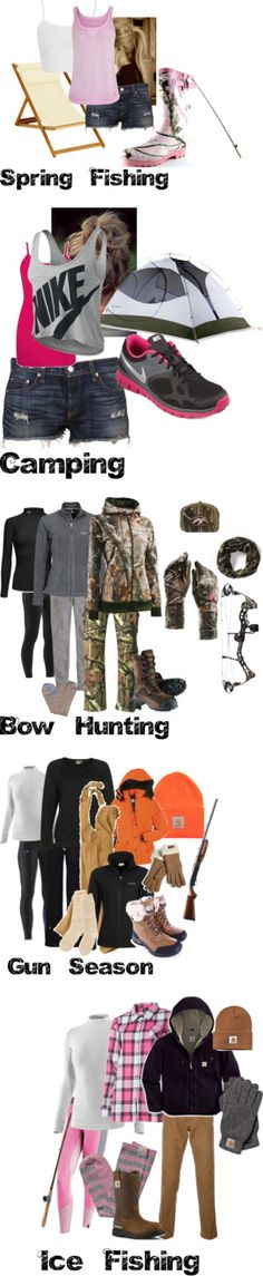 Outfits for all outdoor activities. Tottaly using this for whwn i. Outfits for all Country Girls Outfits, Country Girl Style, Country Fashion, Country Life, Camo Outfits, Girl Outfits, Girl Fashion, Womens Fashion, Dress Fashion