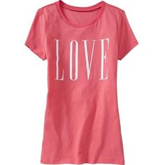 Old Navy Womens Love Theme Graphic Tees ($8.99) ❤ liked on Polyvore