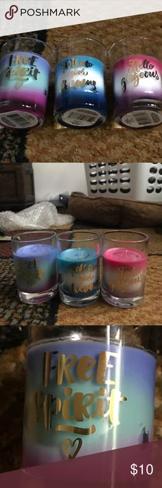 Bundle of gorgeous candles See pics   They are 3 oz a piece    3.5 feet high.  Great for a gift. Brand new Accessories