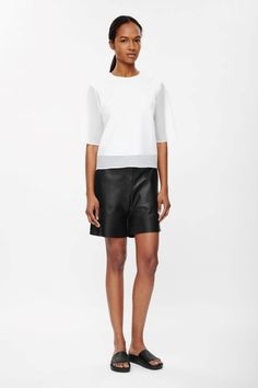 COS | Leather shorts
