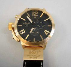 U-BOAT Flightdeck Rosegold 750, Reliefblatt. 260 g, Automatik Chrono, ungetragen. Mit Box und Papier