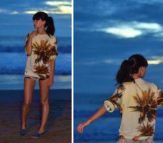 Breaking Rocks Palm Print Sweater