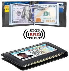Men's Slim RFID Leather Wallet