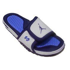 5d7e10b7803b92 Nike Jordan Hydro 2 Premier Mens 456524-104 White Navy Slide Sandals Size 10