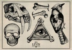 Tattoo Designs by Ien Levin by Ien Levin, via Behance