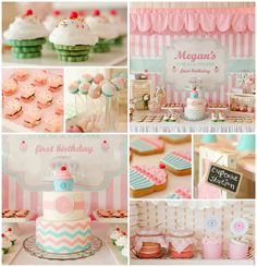 Birthday party with lots of really cute ideas via kara's party ideas k 1st Birthday Girls, First Birthday Parties, Birthday Party Themes, First Birthdays, 1 Year Old Birthday Party, Paris Birthday, Spa Birthday, Birthday Invitations, Birthday Ideas