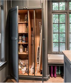 Small Wonders: 9 Space-Saving Broom Closets