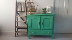 Vintage industrie groen kastje