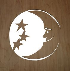 Franklin Phonetic School - Moon overlay template.  New Project Ideas - Woodworking - Woodworking Teachers