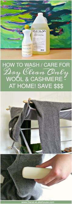 How to Wash and Care for Dry Clean Only Wool and Cashmere // Great for Home…