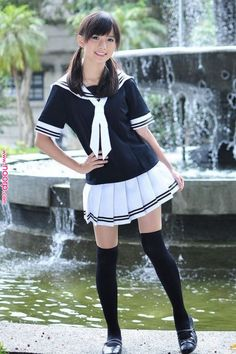 Girls High School Skirt Uniform To Wear Every Time 21 Cute School Uniforms, School Uniform Fashion, Japanese School Uniform, School Uniform Girls, Girls Uniforms, School Outfits, High School Girls, Cute Asian Girls, Beautiful Asian Girls