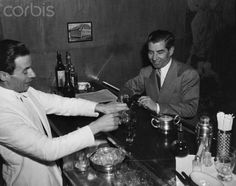 Lucky Luciano Drinking and Chatting with Hotel Barman