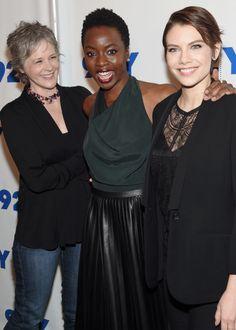 Melissa McBride, Danai Gurira and Lauren Cohan at The Walking Dead: Screening…
