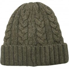 Men's Cable Knit Solid Color Beanie Hat