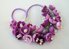 Flowers necklace 869 by Angela.B, via Flickr