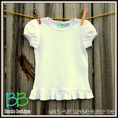 Great blanks for applique at reasonable prices!! Puff Sleeve Ruffle Tee, Blanks Boutique