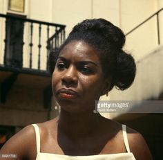 Nina Simone at a press reception for her Philips Record Company, at Stanhope Place, Hyde Park, London on July Nina Simone, What Happened Miss Simone, Cute Natural Hairstyles, Black Magic Woman, Civil Rights Activists, Record Company, Black Power, African Beauty, Her Music