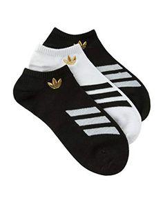 ADIDAS 3 Pack Superlite Stripe Boys No Show Socks a0dd2e7b9