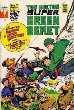 Super Green Beret #2 Lightning Comics! Last Issue! Written by Otto Binder! Art by Carl Pfeufer!