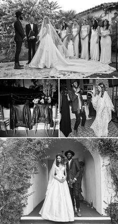 What a Coachella wedding looks like // Model Nicole Trunfio and musician Gary Clark Jr's music festival celebration {Facebook: The Wedding Scoop}