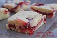 Cherry Pie Bars ~ Easier than pie but just as yummy! viw www.julieseatsandtreats.com #recipe #cherry #pie