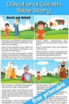 David and Goliath - Preschool Bible lesson - Trueway Kids