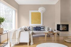 2020/2021 Colour Trends: Cool, Calm & Collected Right Here! Interior Wall Colors, Room Paint Colors, Paint Colors For Living Room, Paint Colors For Home, Interior Walls, House Colors, Interior Design, Modern Fireplace, Fireplace Furniture