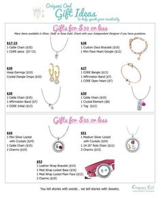 gift ideas?? <3 ~ $17-52 #giftideas #origamiowl #holidayshopping Order online at denaeross.origamiowl.com