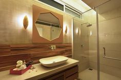 Prakruti Residence – a+t associates Bed Design, Wall Design, House Design, Toilet Vanity, Toilet Design, Master Bathroom, Kitchen Design, Interior Design, Modern Interiors