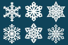 Fold and cut paper into amazing three-dimensional snowflakes. Our instructions include crafting these snowflakes with and without using printable templates. Paper Snowflake Template, Paper Snowflakes, Snowflake Craft, Snowflakes Template Printable, Foam Crafts, Craft Stick Crafts, Craft Ideas, Templates Printable Free, Free Printables