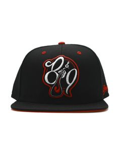adfc93826d9  34.00 Black Red White Snapback Baseball hat the ROC remix Where I m From  logo and brain gang side embroidery.  Snapback