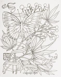 weed leaf coloring pages - Yahoo Image Search Results Coloring Pages For Grown Ups, Free Adult Coloring Pages, Printable Coloring Sheets, Coloring Book Pages, Leaf Coloring Page, Mushroom Art, Cannabis, Kirigami, Print Pictures