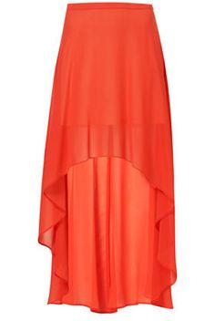 Red Dip Back Maxi Skirt - Skirts  - Apparel
