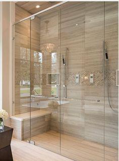 Best Bathroom Tiles, Master Bathroom Shower, Tiny House Bathroom, Diy Bathroom Decor, Bathroom Layout, Classic Bathroom, Modern Bathroom Design, Bathroom Interior Design, Shower Remodel