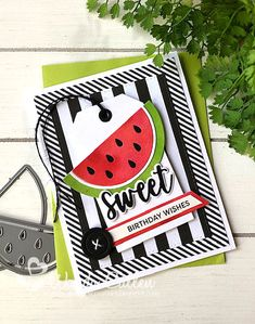 Whimsy Stamps, Mft Stamps, Fusion Card, Cute Fruit, Card Maker, Paper Pumpkin, Halloween Cards, Kids Cards, Watermelon Water