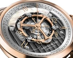 "Arnold and Son Golden Wheel Watch: Return Of The Star Wheel ""Some people are going to be really excited about the upcoming Arnold & Son Golden Wheel watch which marks a new 'Star Wheel' style complication which many collectors have great enthusiasm for. This is a concept also known as 'wandering hours' which has been around since at least the 18th century - though it is rare to find in watches today..."""