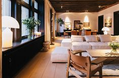 Filippa K's home in Stockholm is an elegant and classy apartment.