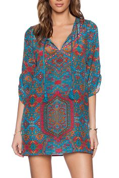 european-styling-print-neck-tie-mini-dress.jpg (733×1100)