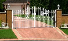 34 Ideas Steel Gate Design Idea Is Perfect For Your Home, There are several types of gates, including wooden gates, wrought gates and perhaps even bespoke steel gates, and that means you have a vast range to . Aluminum Driveway Gates, Wrought Iron Driveway Gates, Timber Gates, Aluminium Gates, Wooden Gates, Driveway Entrance, Electric Gate Opener, Electric Gates, Steel Gate Design