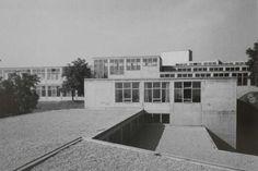 DE, Ulm, Hochschule für Gestaltung Ulm. Architect Max Bill, 1955.
