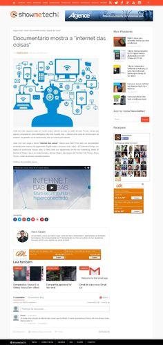 Título: Documentário mostra a Internet das Coisas. Veículo: ShowMeTech. Data: 20/10/2014. Cliente: Pagtel.