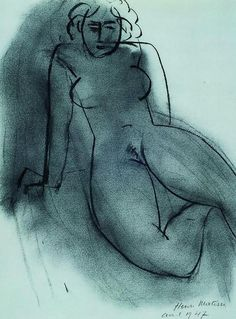 frenzy-of-exultations:  Henri Matisse (1869-1954) Nude (1947)Charcoal on paper