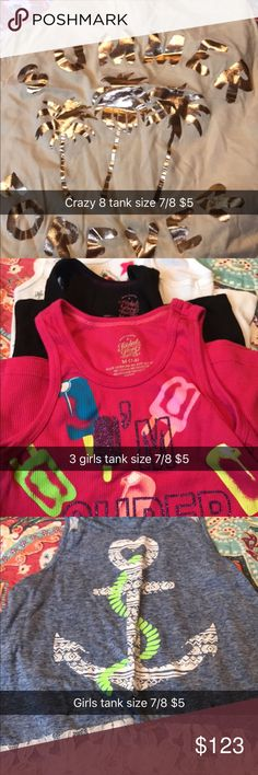 Girls Clothes size 6-8 Girls summer clothes Shirts & Tops Tank Tops