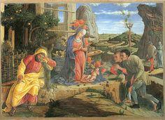 The Adoration of the Shepherds. Andrea Mantegna