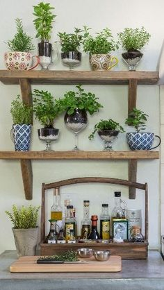 Another way to use glassware: as stylish herb pots! #HomeGoodsHappy #gourmet #cooking #food