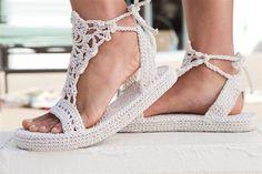 Flip Flop Base Crochet Patterns | Sandalia a crochet-modelo para mujeres