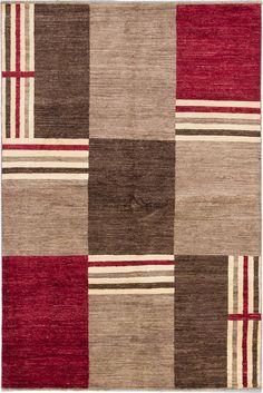 Peshawar Ziegler Hand-Knotted Dark Brown Area Rug