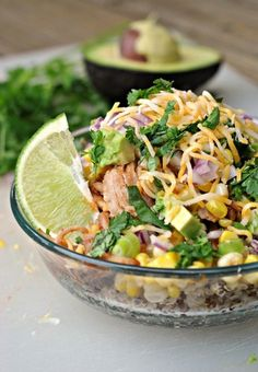 Good, but takes a lot of work for just a good dish - BBQ Chicken Quinoa Bowls + Weekly Menu