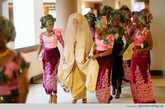 Nigerian Traditional Engagement Trend Alert: Mismatch Aso-Oke & Damask For Groom, Lace Blouse, Iro & Buba For Brides And Velvet Embroidery Iro & French Lace For The Ore-Iyawo | Nigerian Wedding